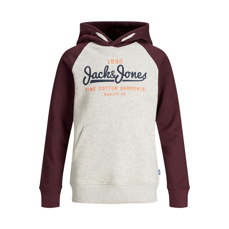 JACK & JONES JUNIOR SWEAT 12162687 W (White Melange, 140)