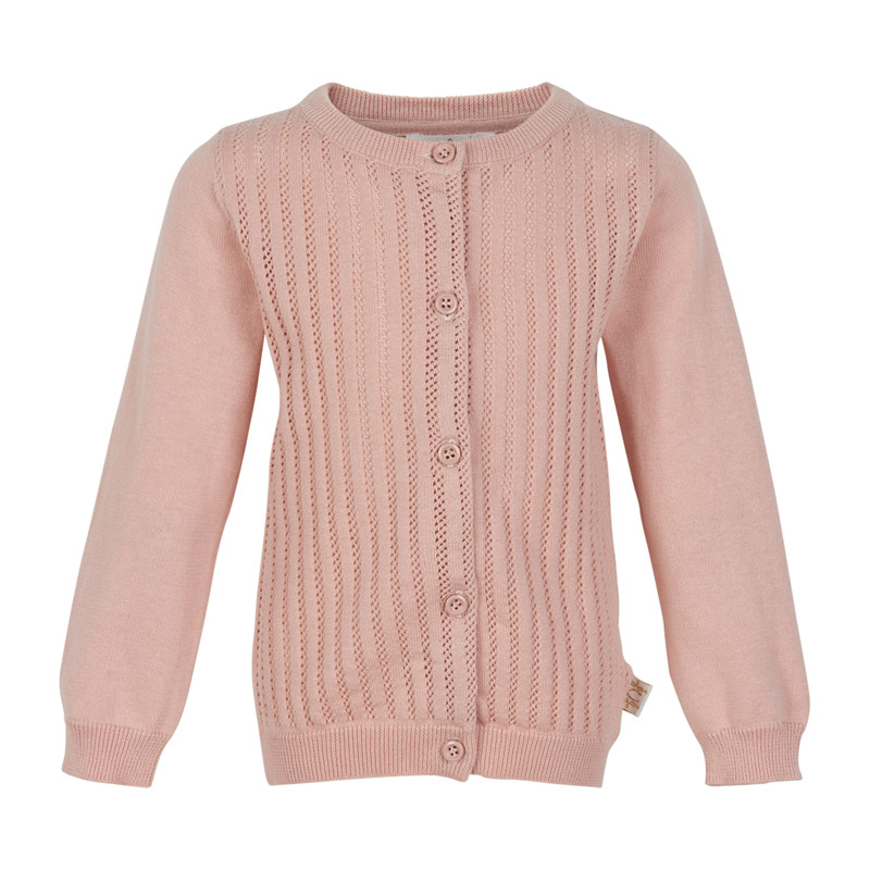 CREAMIE POINTELLE STRIK CARDIGAN 840094 (Rose Smoke 5506, 80)