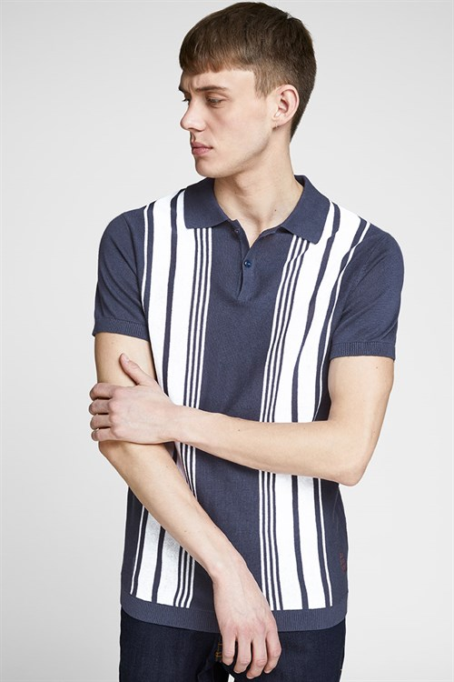 Jack & Jones Sean Knit SS Polo Mood Indigo