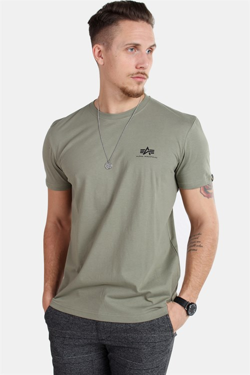 Alpha Industries Basic T-shirt Small Logo Olive