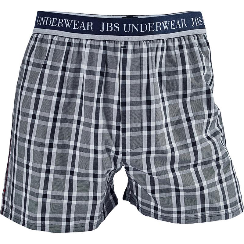Jbs Woven Logo Boxers Blå Og Hvid Ternet