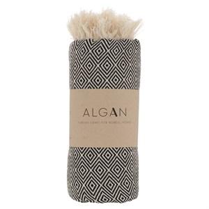 Algan - Elmas hamamhåndklæde - Sort