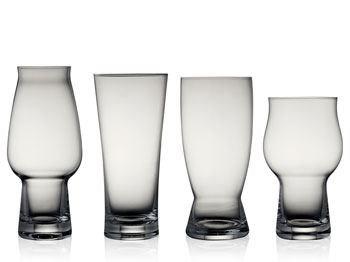 Ølglas. 4 ass. stk. glas. Lyngby.