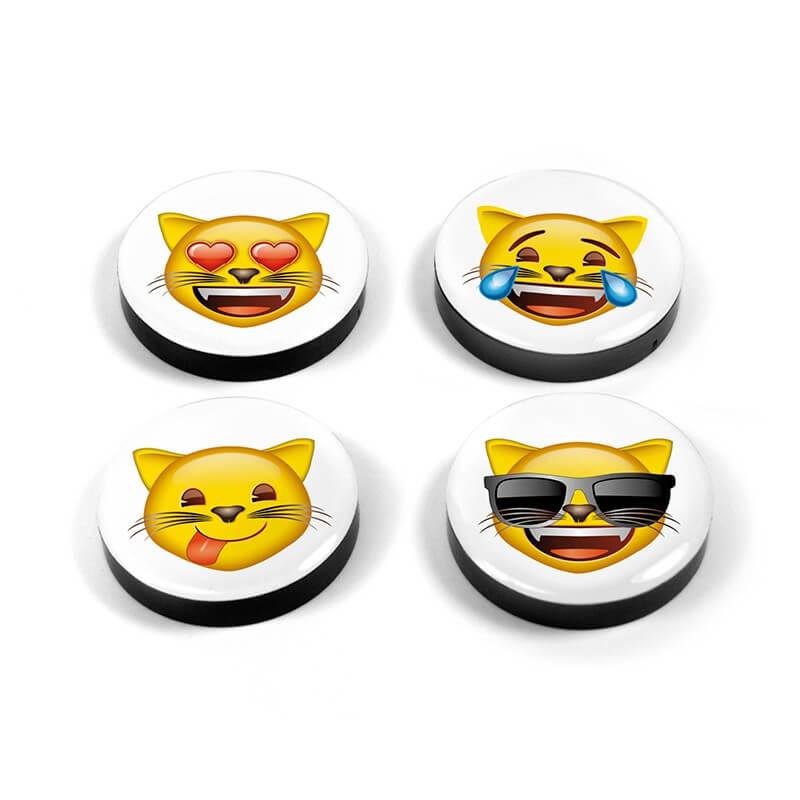 Magnetiske Emoji katte 4 styk