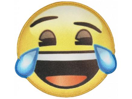 Emoji Strygemærke Smiley Tårer 6,5 cm - 1 stk