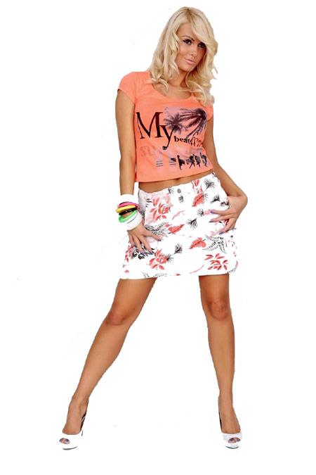 Blomstret nederdel, str. L