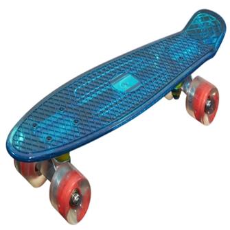 Mcu Sport Blå Transparent Led Skateboard Med Lys Abec 7