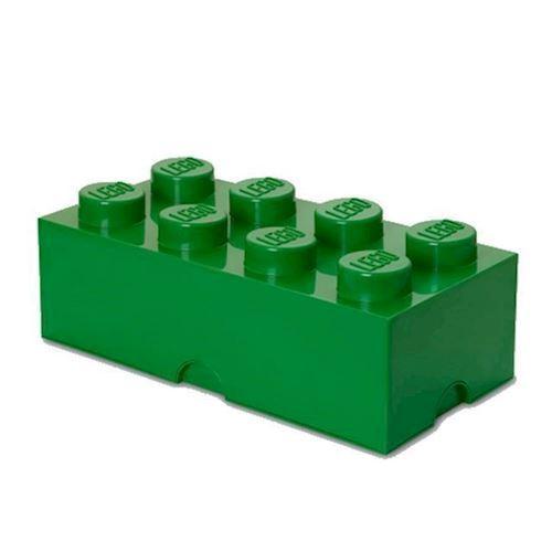 Room Copenhagen LEGO opbevaringsklods 8, mørk grøn