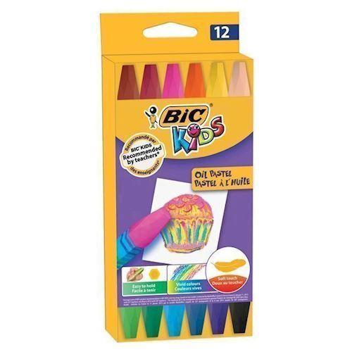 BIC Kids farvekridt, pastel, 12 stk