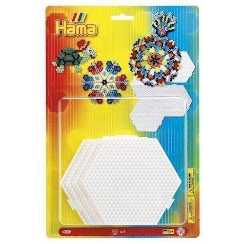 Hama perleplader Hexagon, 4 stk