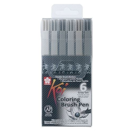 Sakura Koi Color pensel Sæt, 6 dele