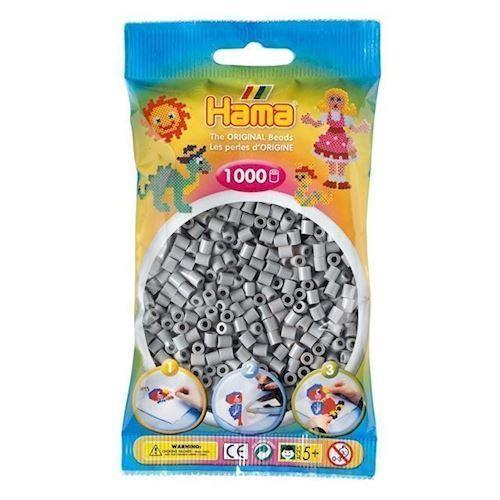 Hama perler grå (017), 1000 stk