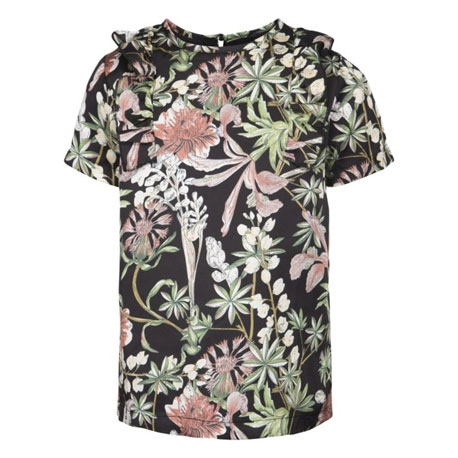 Petit by Sofie Schnoor Blomster bluse - Sort