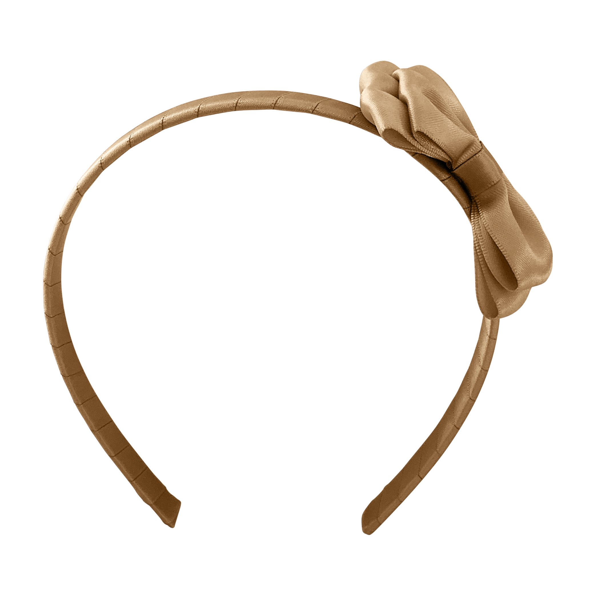 Medium double bowtie - hairband - Pale Gold