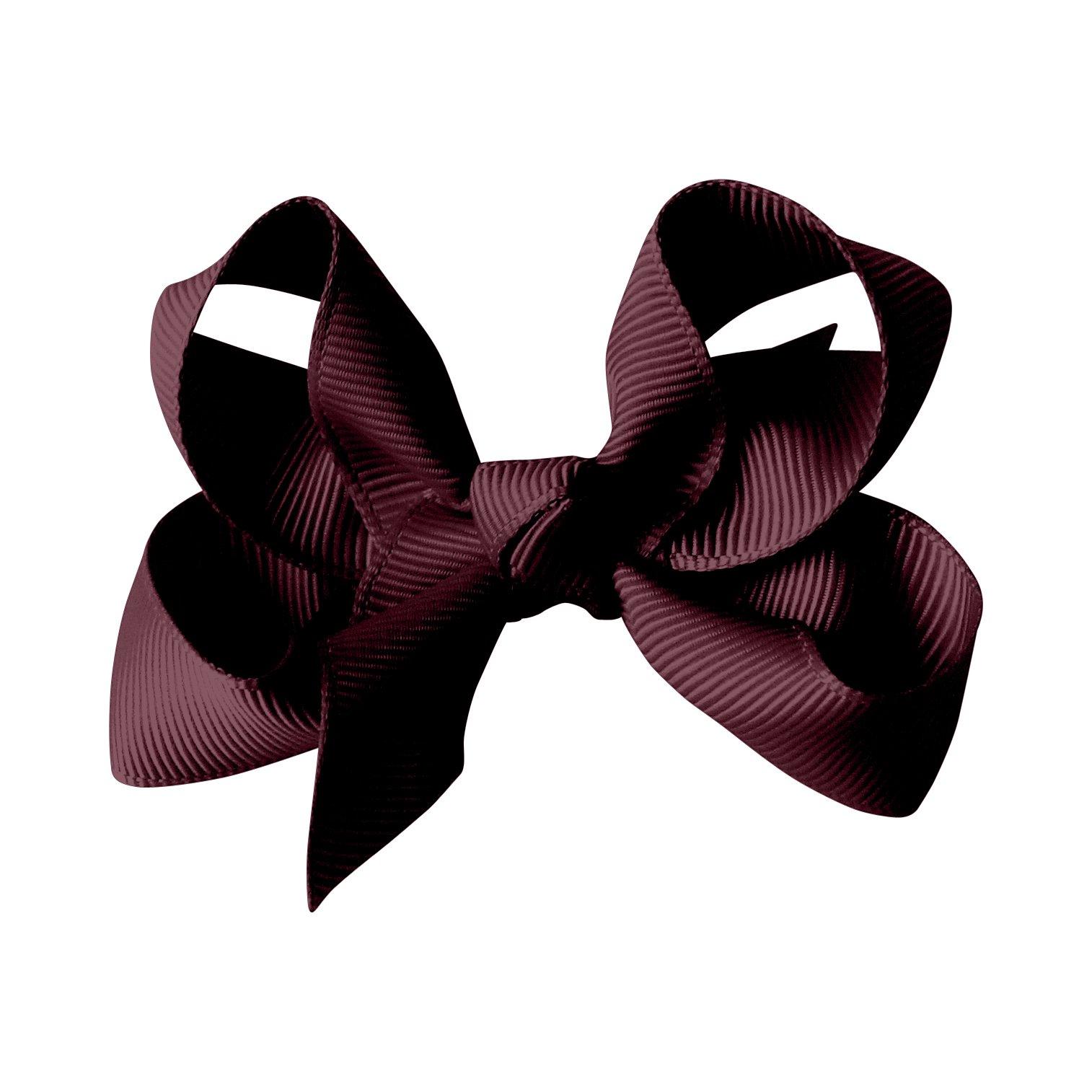 Medium boutique bow - alligator clip - burgundy