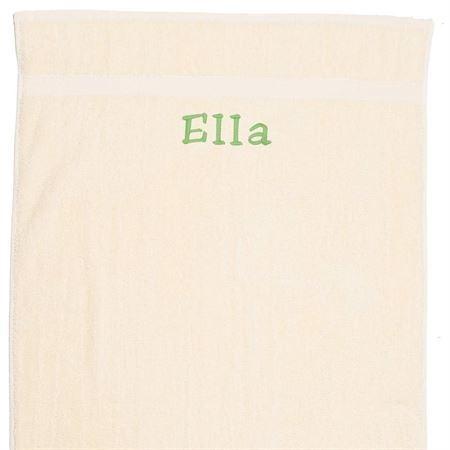 Håndklæde med navn, natur hvid 50x90