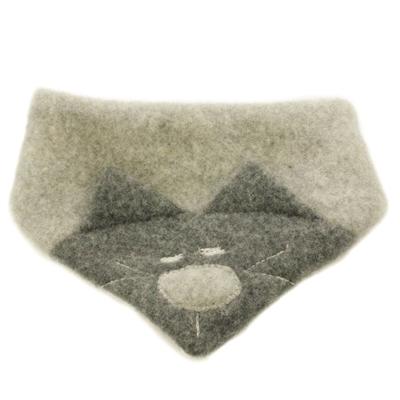 Pure Pure halstørklæde til baby m/kat - Lysegrå
