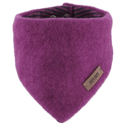 Pure Pure halstørklæde til baby i uldfleece - Fuxia