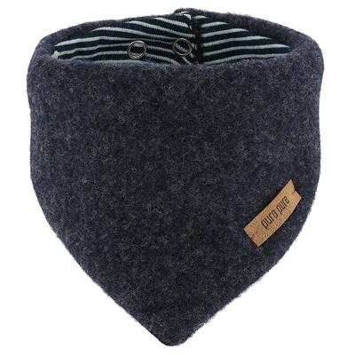Pure Pure halstørklæde til baby i uldfleece - Jeans blå