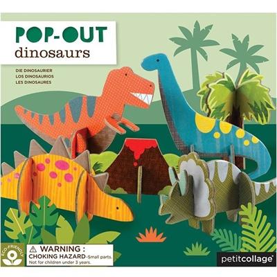 Petit Collage 3D figurer - Dinosaurer