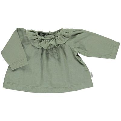 Poudre Organic bluse m/krave, Charme - Oil Green