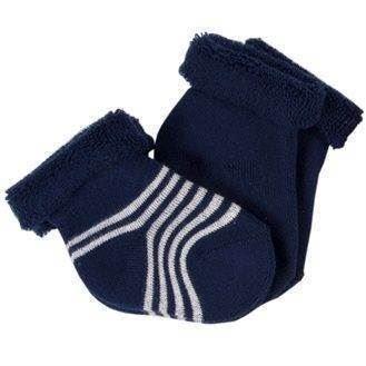 Sokker til nyfødt, navy, 2 par - Iobio
