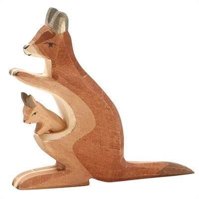 Ostheimer kænguru med unge i træ - 2 dele