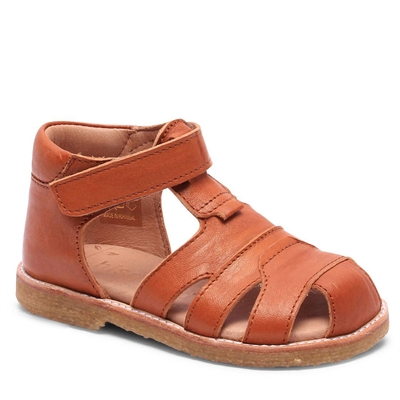 Bisgaard sandal m/velcro - Cognac