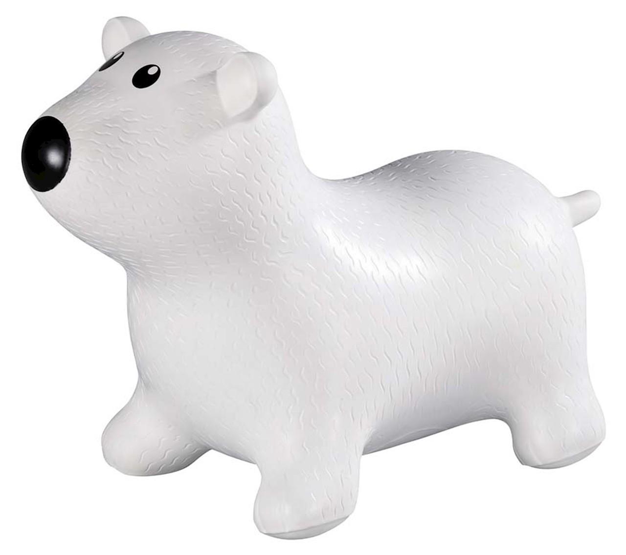 Goki hoppedyr isbjørn hvid