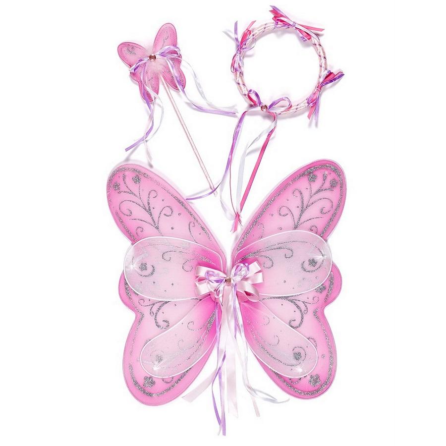 Souza fesæt med vinger og glimmer - pink