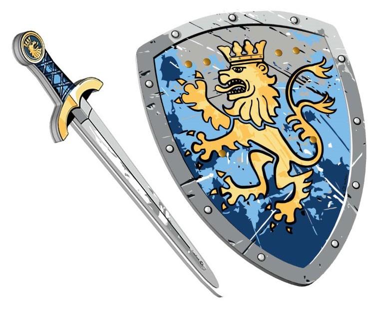 Noble Lion Knight Skum sværd + Skjold