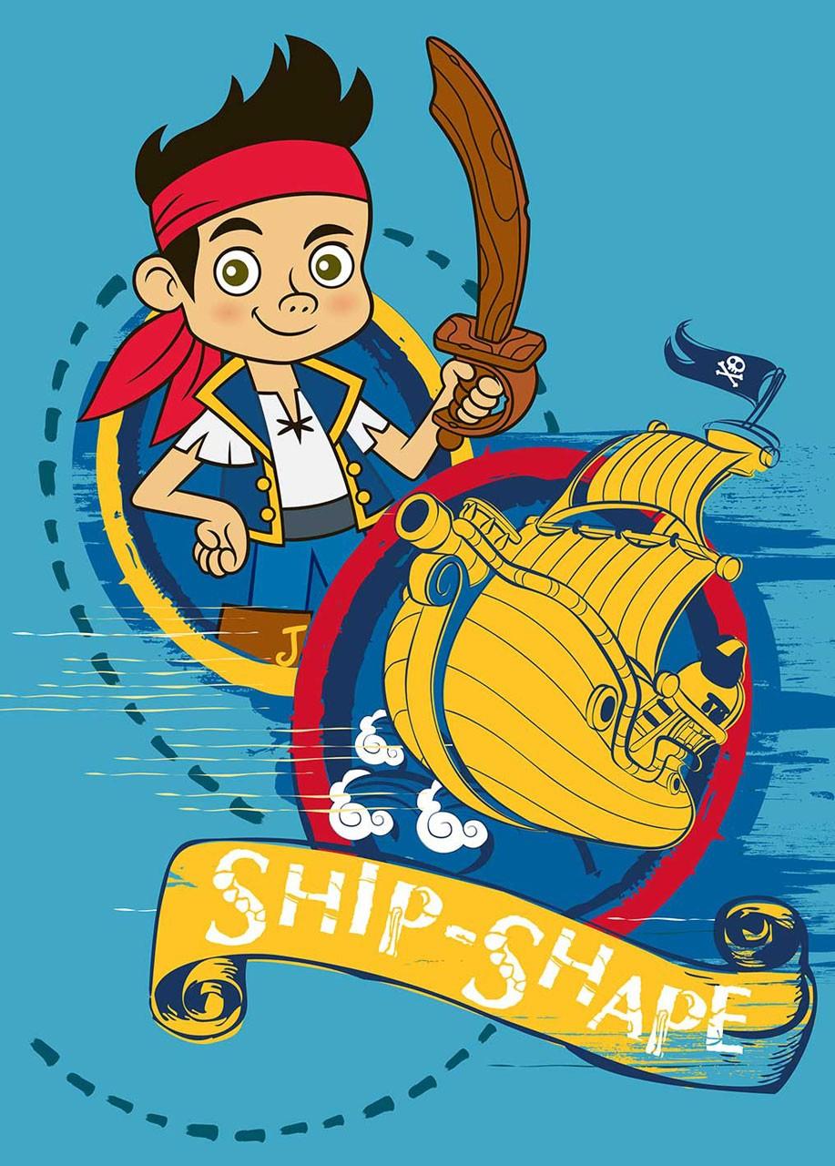 Disney Jake og Piraterne Tæppe Design 02 - 95 x 133 cm