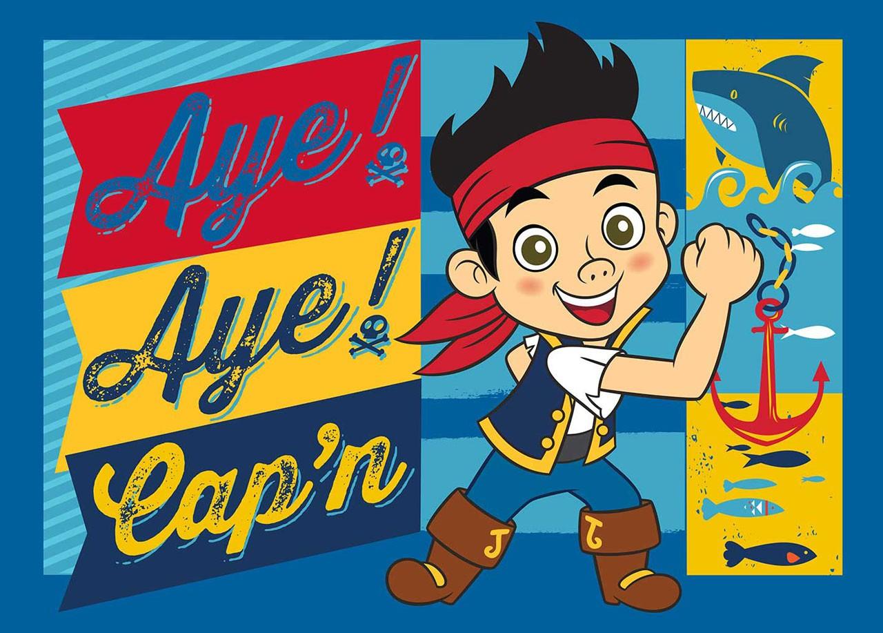 Disney Jake og Piraterne Tæppe Design 01 - 95 x 133 cm