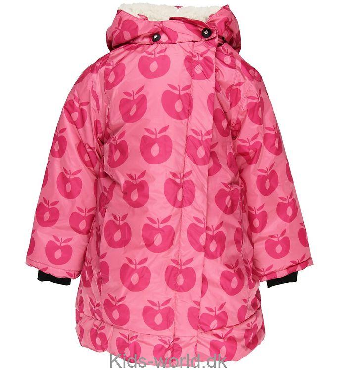 96f11c3bdc2 NYT, Småfolk Vinterjakke - Pink m. Æbler