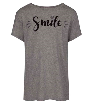Grå SMIL T-shirt Fra Petit By Sofie Schnoor