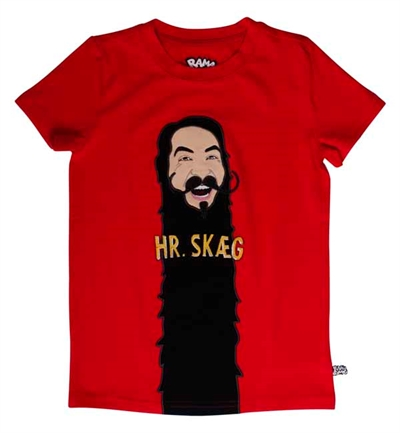 Rød Hr. Skæg T-shirt Fra Ramasjang Kluns