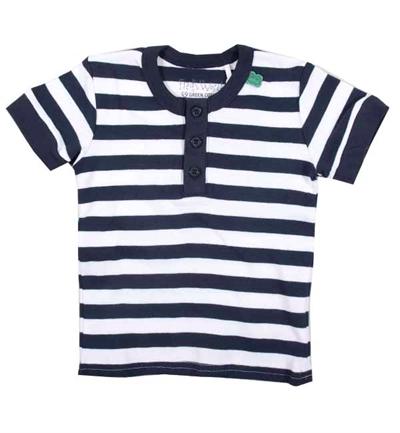 Mørkeblå/Hvid T-shirt Fra Freds World