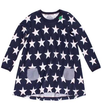 Mørkeblå/Hvid Stjerne Baby Kjole Fra Freds World