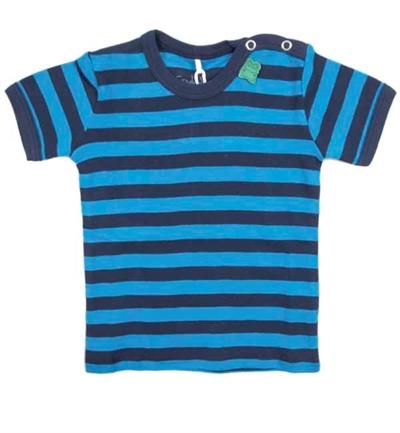 Blå Stribet T-shirt Fra Freds World
