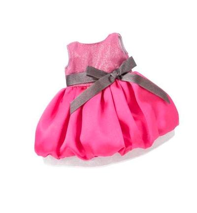 Pink Kjole Med Grå Sløjfe Fra Götz