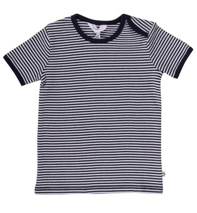 Mørkeblå/Hvid Stribet T-shirt Fra Musli