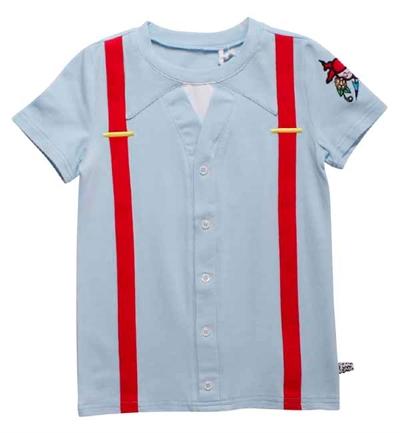 Lyseblå Onkel Reje Skjorte T-Shirt Fra Ramasjang Kluns