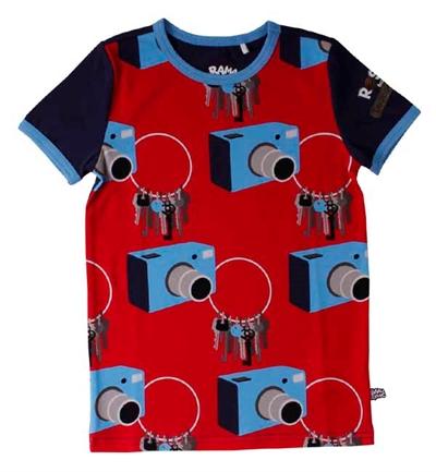 Blå/Rød Rosa Spion T-shirt Fra Ramasjang Kluns