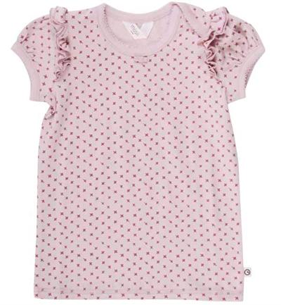 Rose Krydsprintet T-shirt Fra Musli