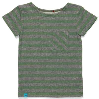 Grøn/Grå Glow T-shirt Med Lomme Fra Albababy