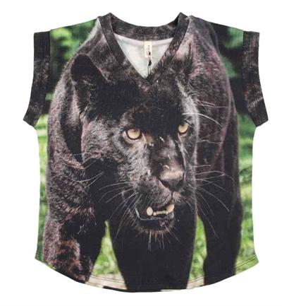 Sort Panter T-shirt Fra Popupshop