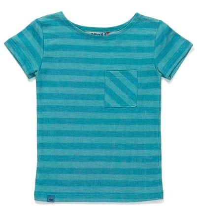 Blå Stribet Glow T-shirt Fra Albababy