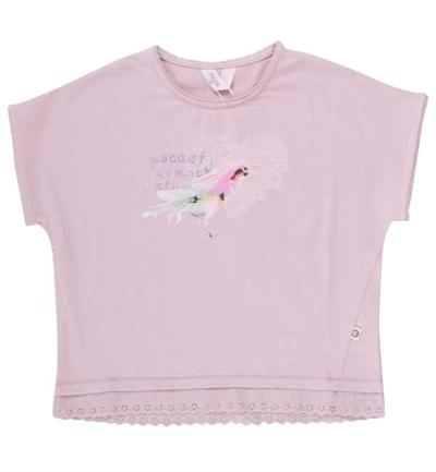 Rose T-shirt Med Fugl Fra Musli