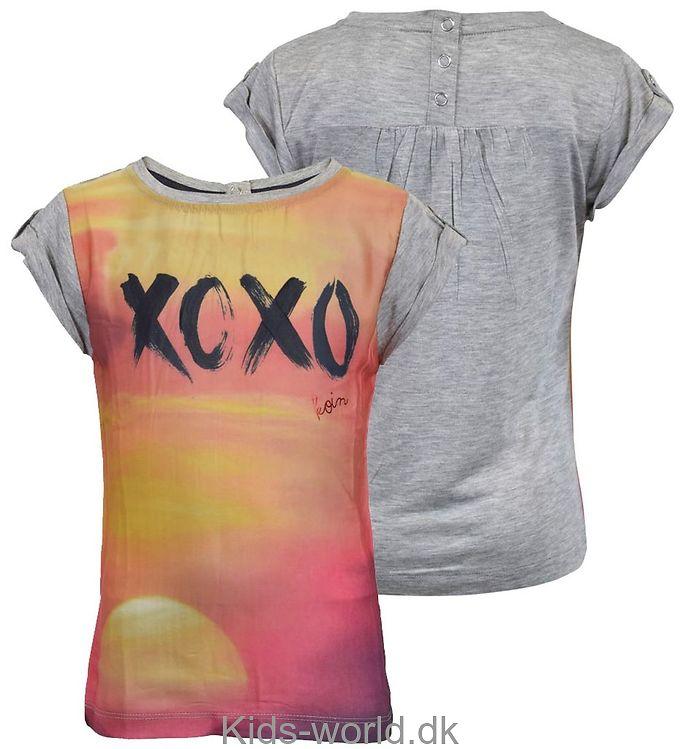 Koin T-shirt - Gråmeleret m. XOXO