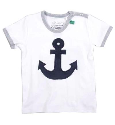 Hvid T-shirt Med Anker Fra Freds World